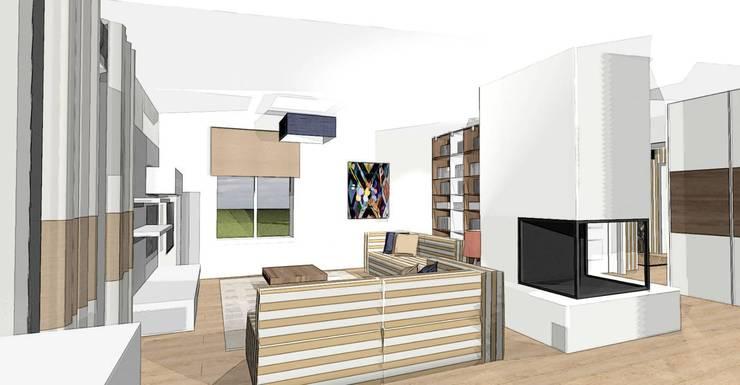 réagencer séjour: Salon de style  par agence concept decoration