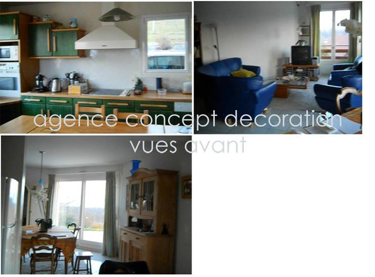 vues avant: Maisons de style  par agence concept decoration
