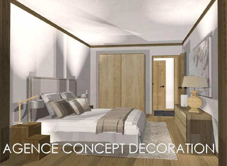 agencement général d'un appartement de montagne: Maisons de style  par agence concept decoration