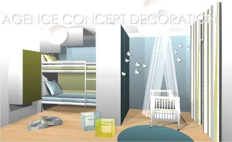 optimiser petit appartement: Maisons de style  par agence concept decoration
