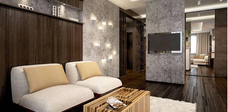 Salas de estar  por Александра Петропавловская , Minimalista