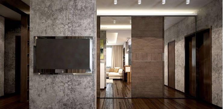 Дизайн-проект квартиры 90 кв.м.: Гостиная в . Автор – Александра Петропавловская,