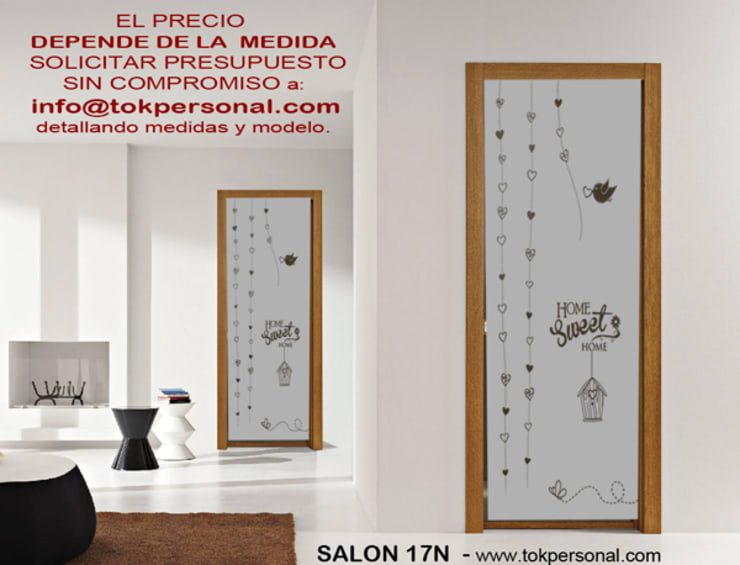 VINILOS DECORATIVOS PARA CRISTALES SALÓN 17N: Comedor de estilo  de vinilos decorativos TOKPERSONAL