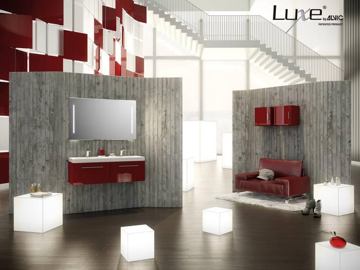 Muebles de baño en alto brillo Luxe by Alvic : Baños de estilo moderno de ALVIC