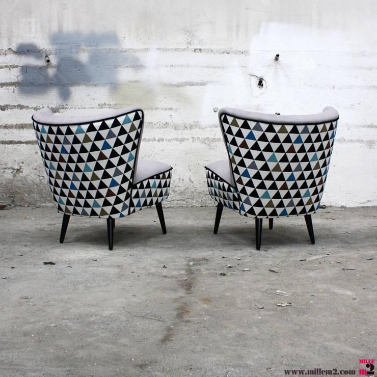 fauteuil cocktail vintage des annes 50 triangles - Fauteuil Cocktail Vintage