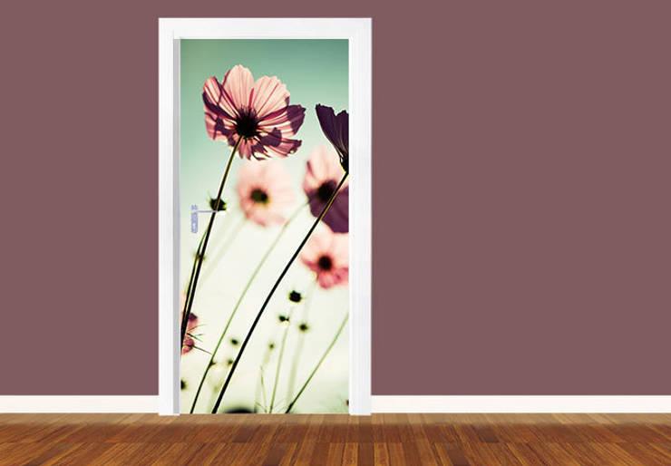 Türdesign Rosa Kosmeen:   von K&L Wall Art,Ausgefallen