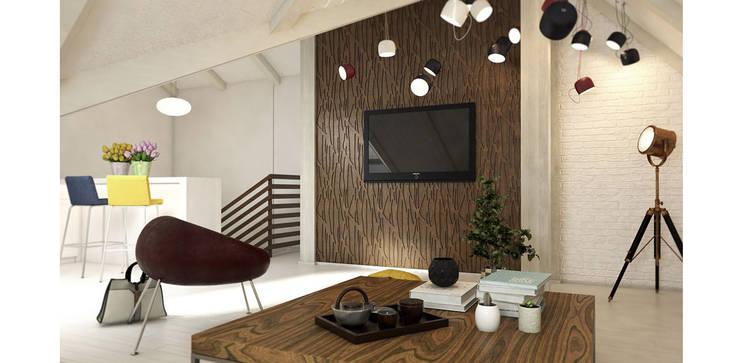 Дизайн-проект мансарды: Медиа комнаты в . Автор – Александра Петропавловская