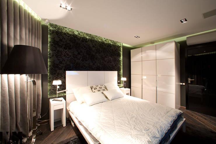 Чёрное и белое: Спальни в . Автор – ММ-design, Минимализм