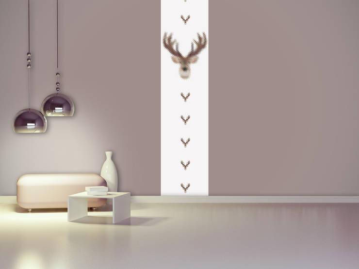 Lé de papier peint Constantin: Murs & Sols de style de style eclectique par Homology