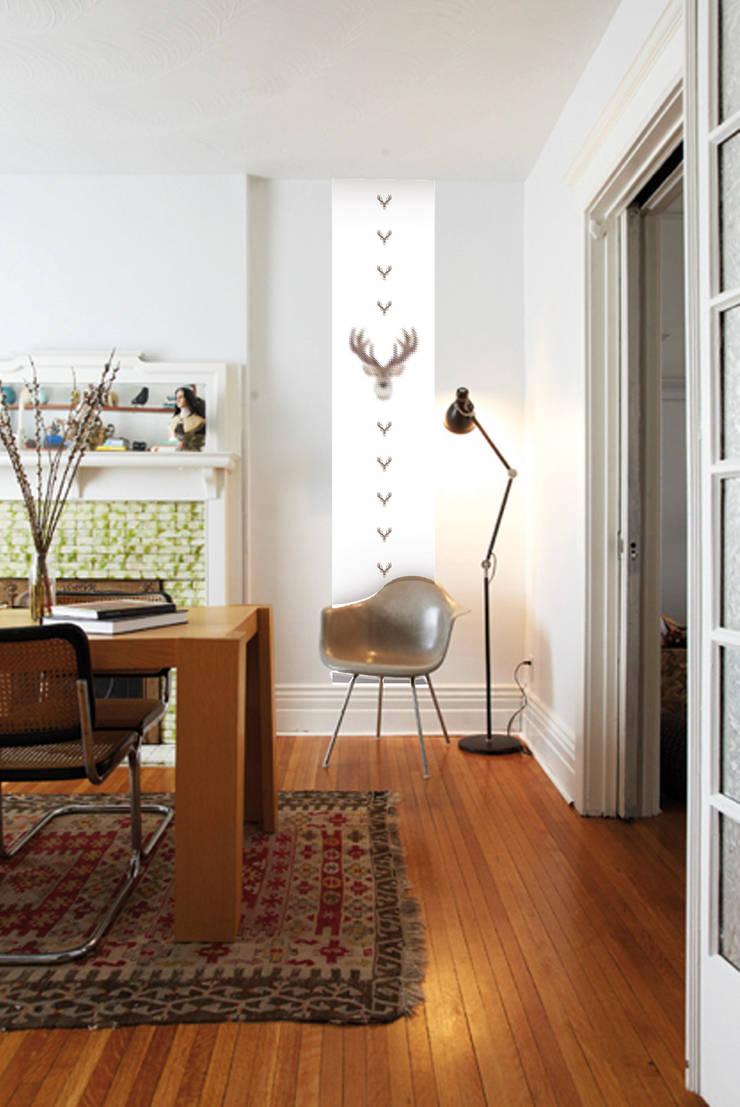 Lé de papier peint Constantin - ambiance: Murs & Sols de style de style eclectique par Homology