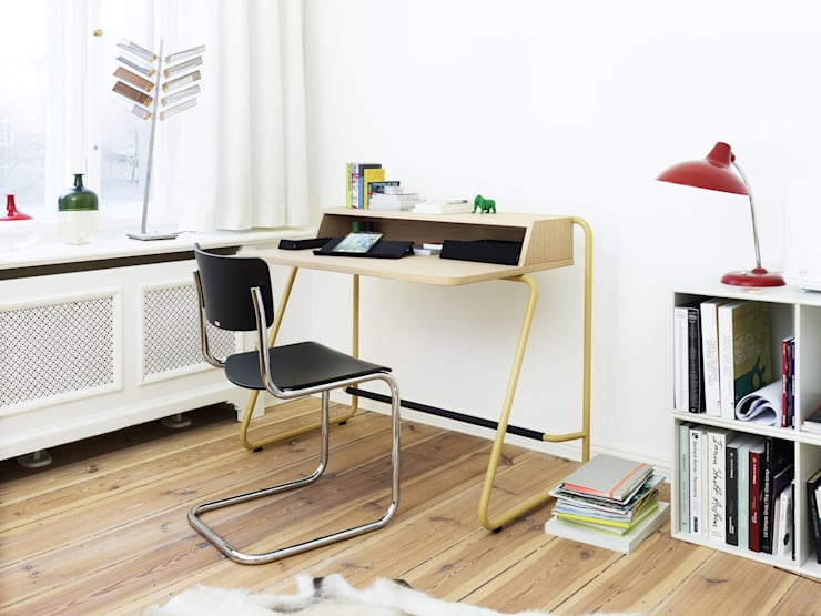 Bureau S1200 jaune moutarde - Thonet: Bureau de style  par Homology