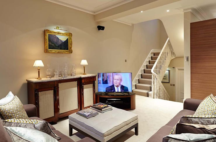 Townhouse Interior Design, Putney Bridge, London:  Houses by Residence Interior Design Ltd