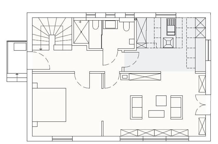 EFH mit Anliegerwohnung Wiesbaden: Grundriss EG:   von WIDENKA Design Ingenieure