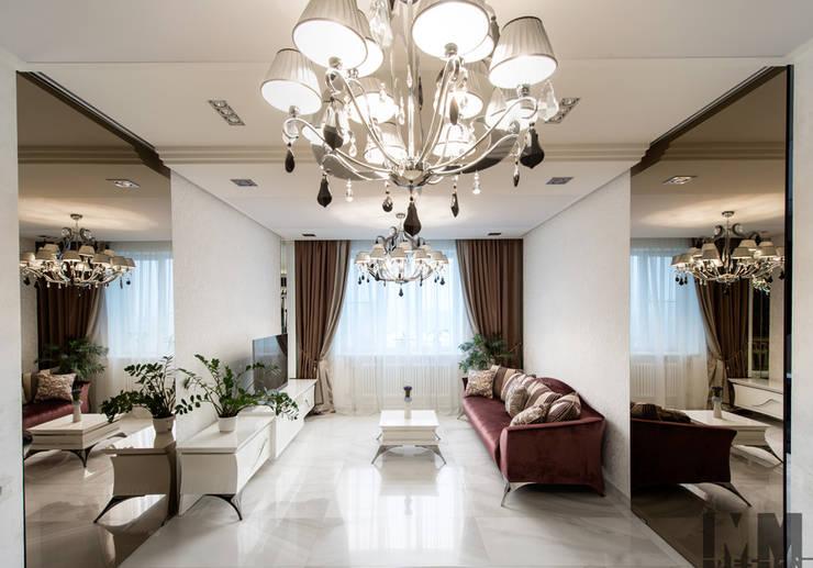 Просетлённый ар-деко: Гостиная в . Автор – ММ-design