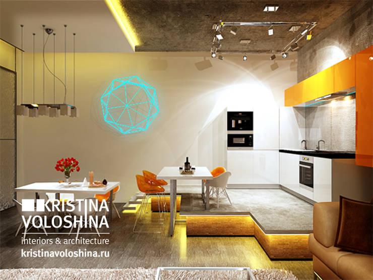 Квартира-студия в бионическом современном стиле.: Кухни в . Автор – kristinavoloshina