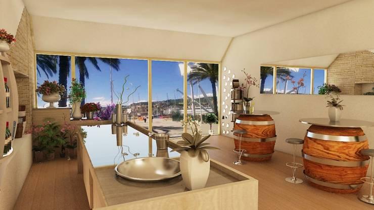 PROGETTAZIONE LOCALE MULTIFUNZIONALE: Spazi commerciali in stile  di Home-designer.it  Consulenza e Progettazione Interni