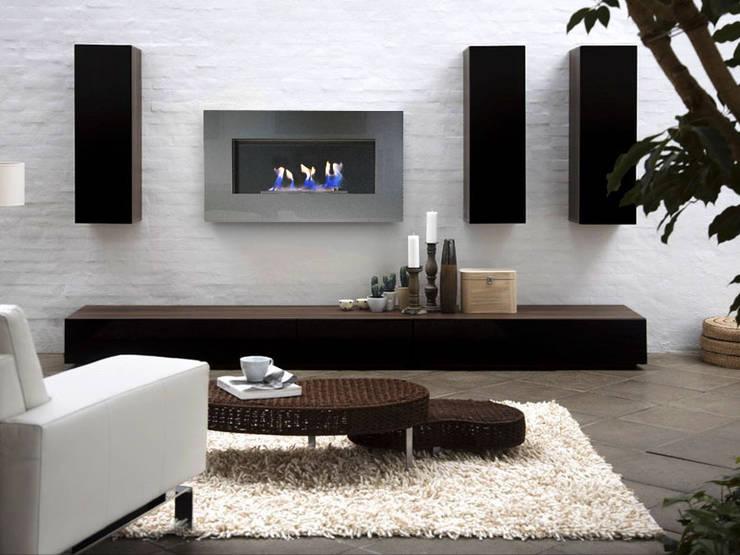 Chimeneas bioetanol CULTURE pared: Salones de estilo  de Shio Concept