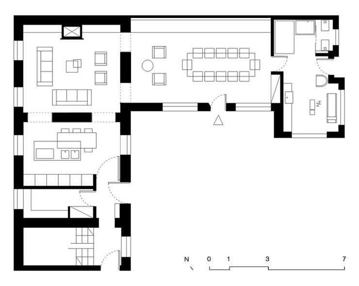 planimetria:  in stile  di AMC|Architects