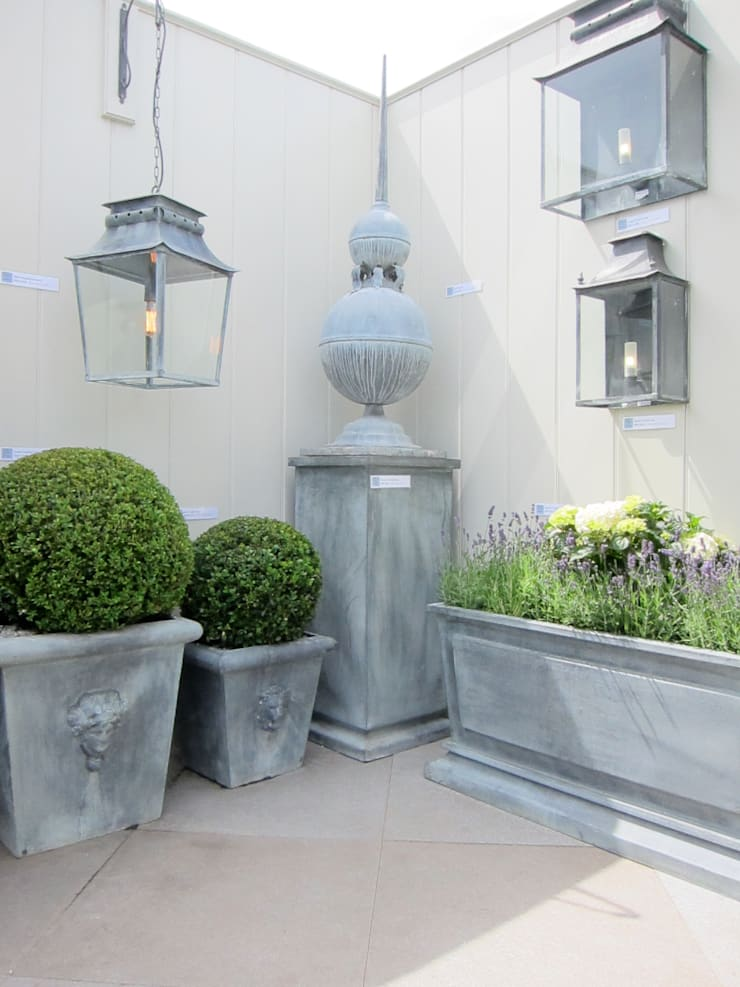 Outdoor Lighting, Planters & Decorative Objects:  Garden  by A Place In The Garden Ltd.