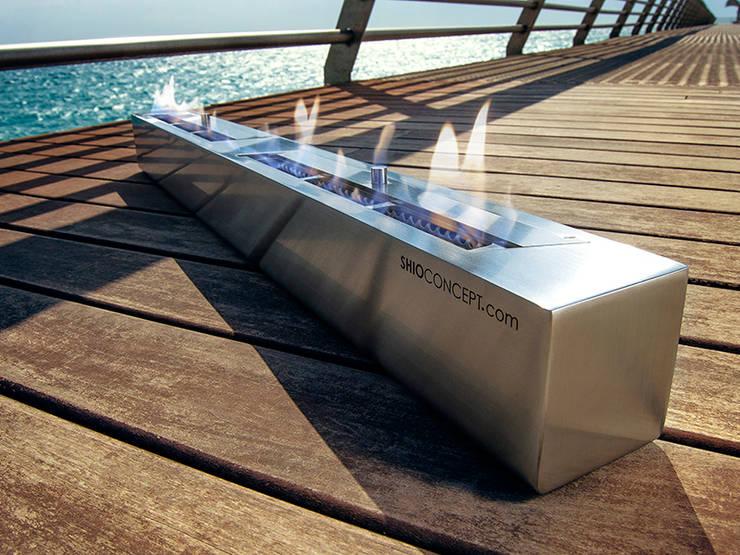 Quemador bioetanol Long 800: Salones de estilo  de Shio Concept