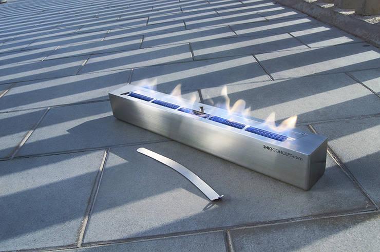 Quemador bioetanol Long 600: Salones de estilo  de Shio Concept