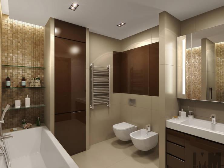 Динамика параллелограмма: Ванные комнаты в . Автор – ММ-design