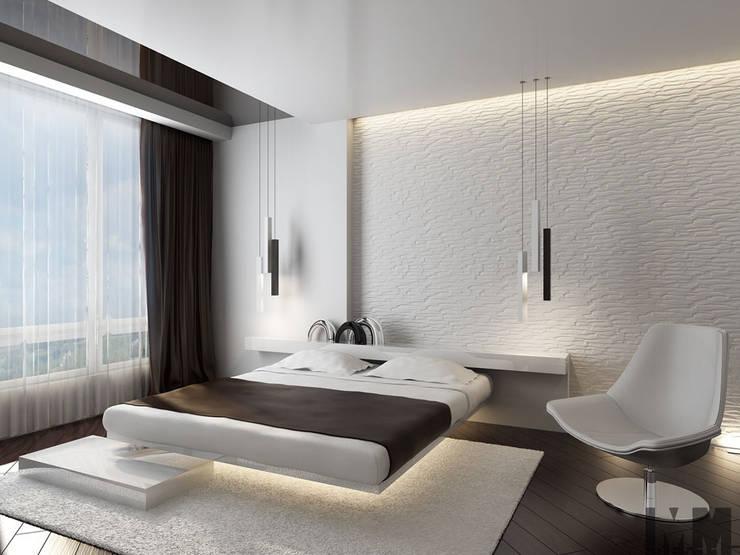 Квартира для холостяка: Спальни в . Автор – ММ-design, Минимализм
