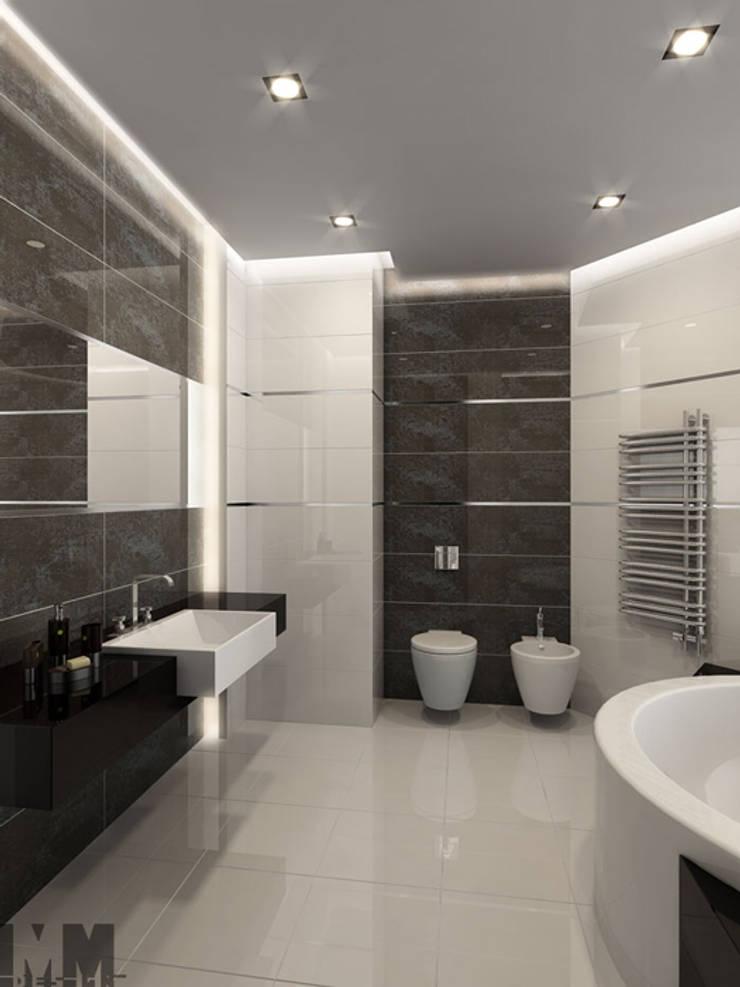 Квартира для холостяка: Ванные комнаты в . Автор – ММ-design, Минимализм