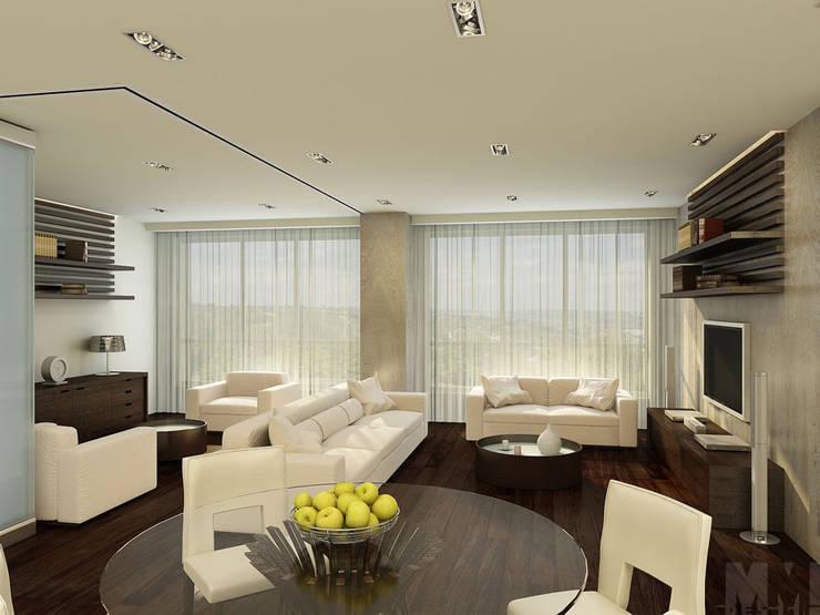 Квартира-трансформер: Гостиная в . Автор – ММ-design,