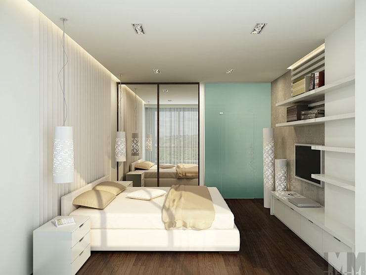 Квартира-трансформер: Спальни в . Автор – ММ-design,