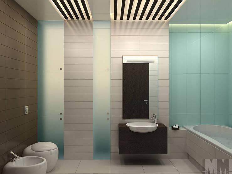 Квартира-трансформер: Ванные комнаты в . Автор – ММ-design,