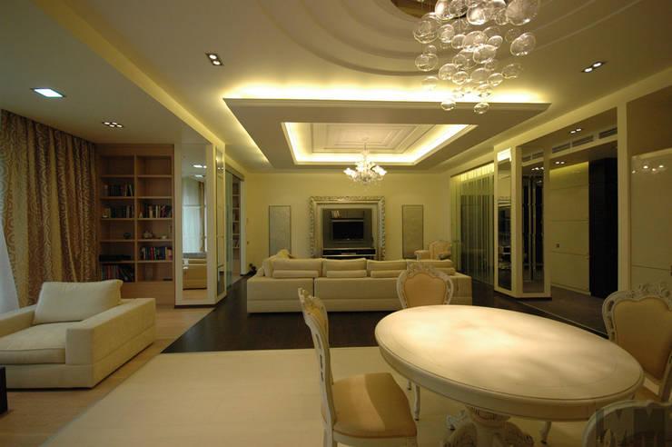 Неоклассика умноженная на минимализм: Столовые комнаты в . Автор – ММ-design