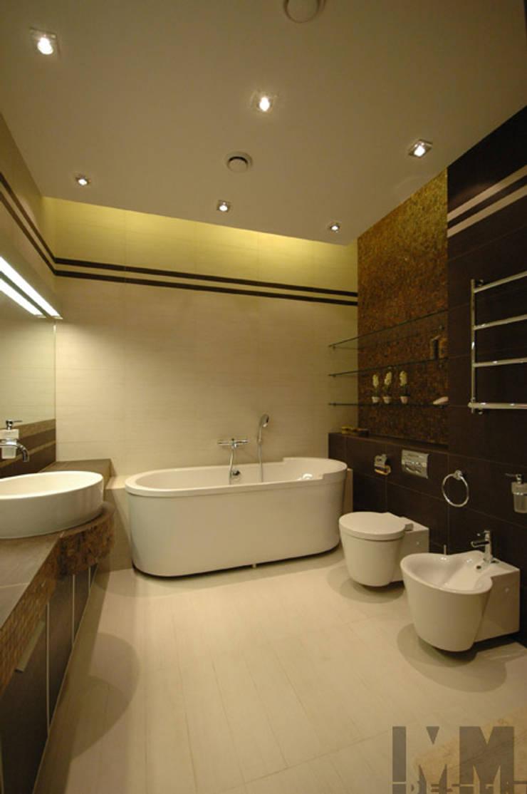 Неоклассика умноженная на минимализм: Ванные комнаты в . Автор – ММ-design