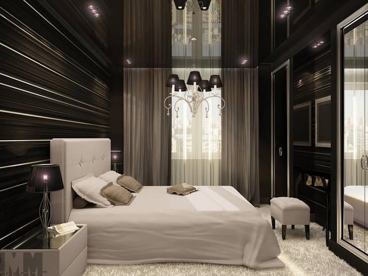 Фьюжн в черно-белом: Спальни в . Автор – ММ-design