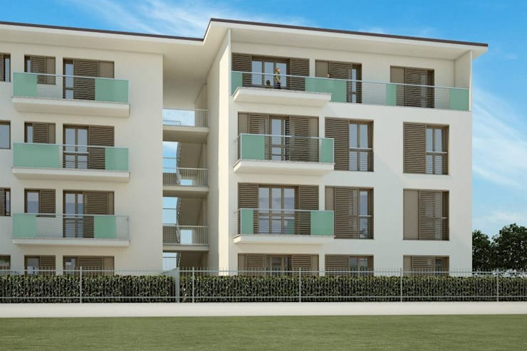 Nuovo edificio residenziale in edilizia convenzionata:  in stile  di Studio Guzzo & Partner