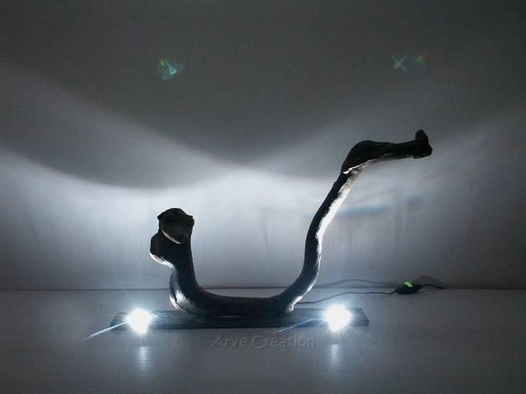Aludra - sculpture lumineuse: Maison de style  par Arve Création