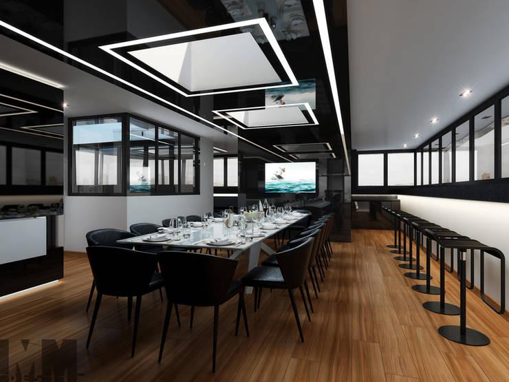 Чёрная лента: Столовые комнаты в . Автор – ММ-design