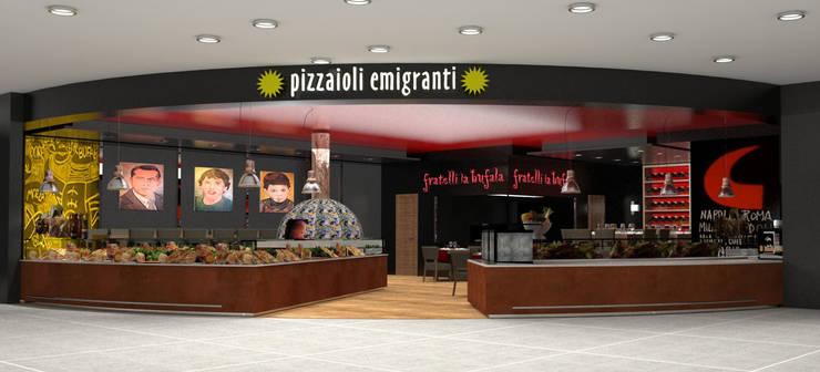 Fratelli La Bufala, aeroporto internazionale Napoli: Aeroporti in stile  di Conforti Tina Designer