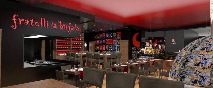 Fratelli La Bufala, aeroporto internazionale Napoli: Negozi & Locali commerciali in stile  di Conforti Tina Designer