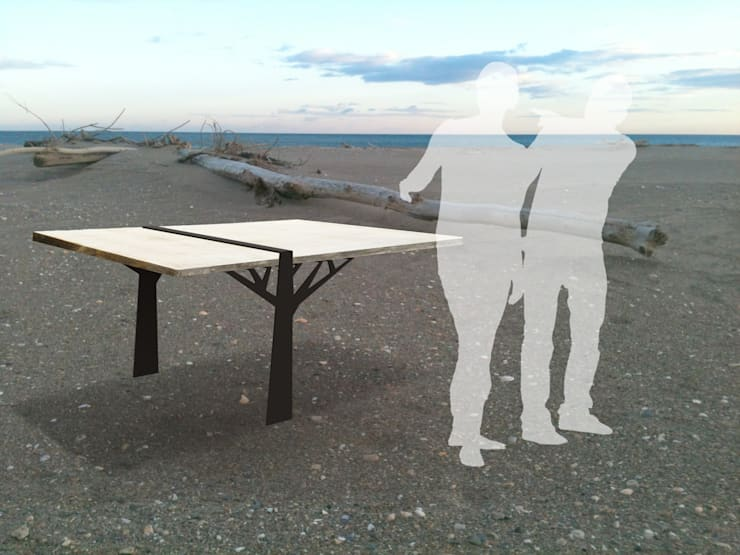 tables en bois flotté: Salle à manger de style de style Moderne par deco-nature