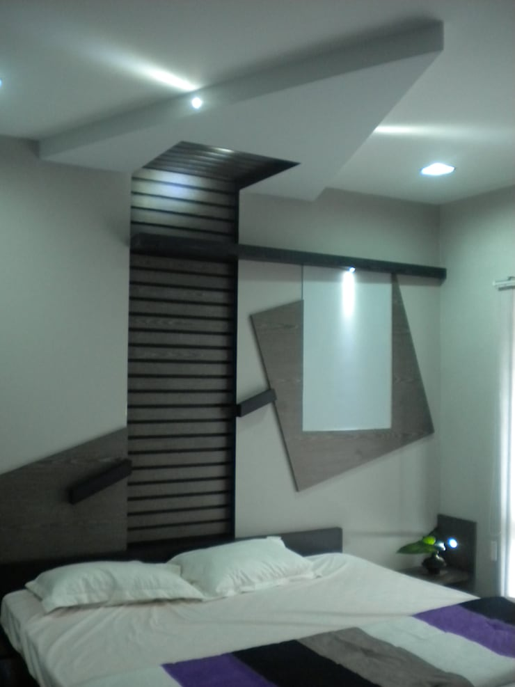 Bedroom:  Houses by Ashwin Architects