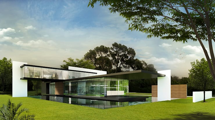 Casas de estilo moderno por CO Mimarlık Dekorasyon İnşaat ve Dış Tic. Ltd. Şti.