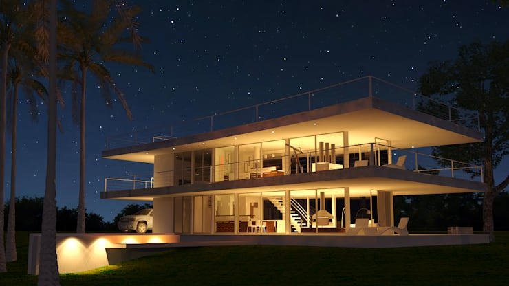Casa RP - RESIDENCIA SUBURBANA: Casas de estilo  por D'ODORICO OFICINA DE ARQUITECTURA