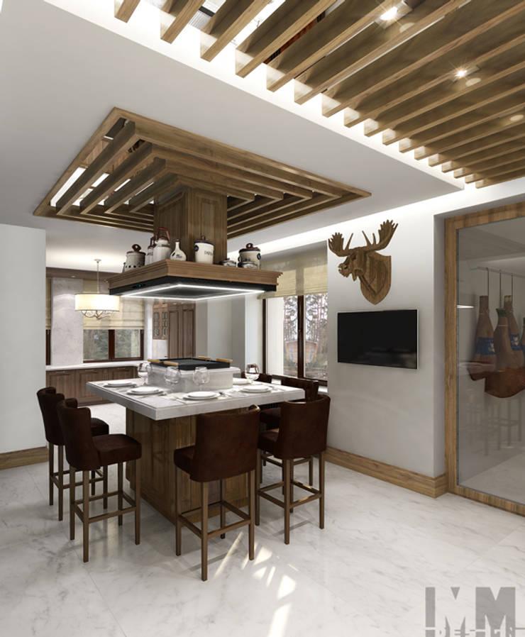 Загородный дом в стиле шале: Кухни в . Автор – ММ-design