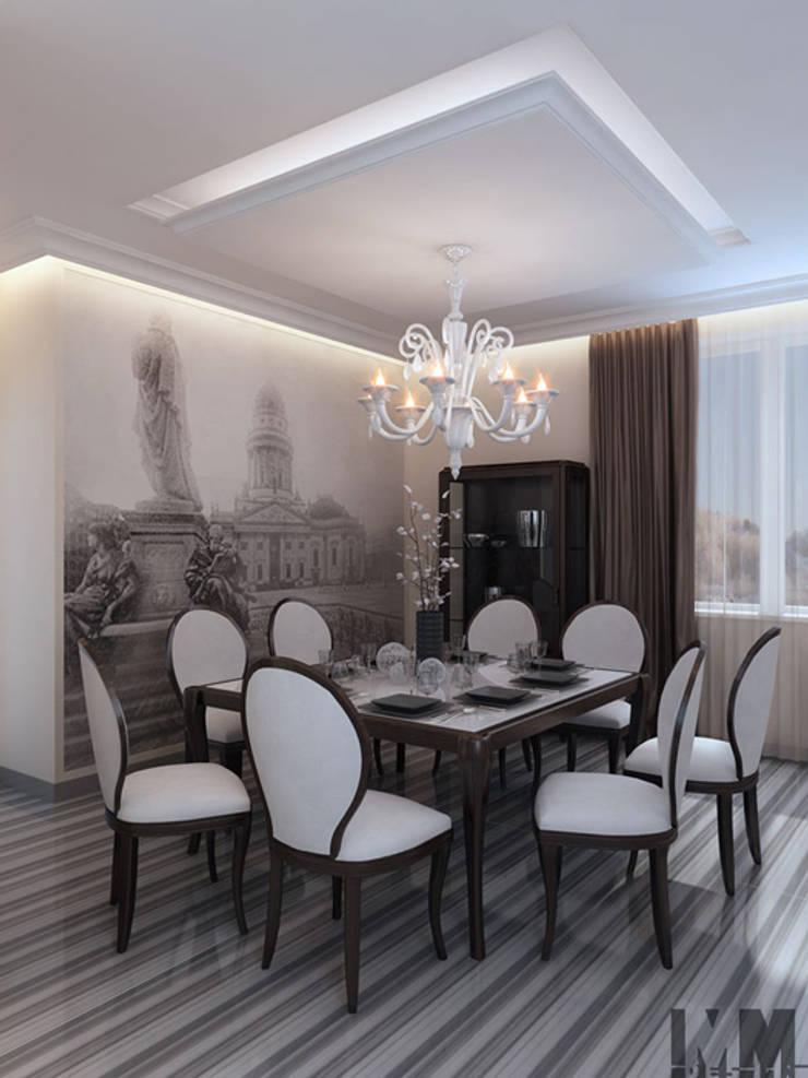 Изысканная неоклассика: Столовые комнаты в . Автор – ММ-design