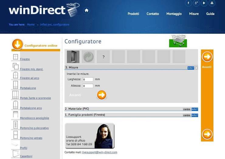 winDirect configuratore : Finestre & Porte in stile  di winDirect