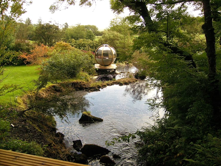 "The ""Sphere"" has landed:  Garden by Kevin Cooper Garden Design"