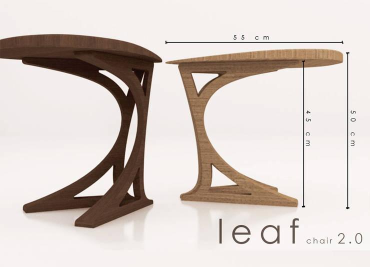 Leaf Chair: Paesaggio d'interni in stile  di Architettura Creativa_architecture and Interior design