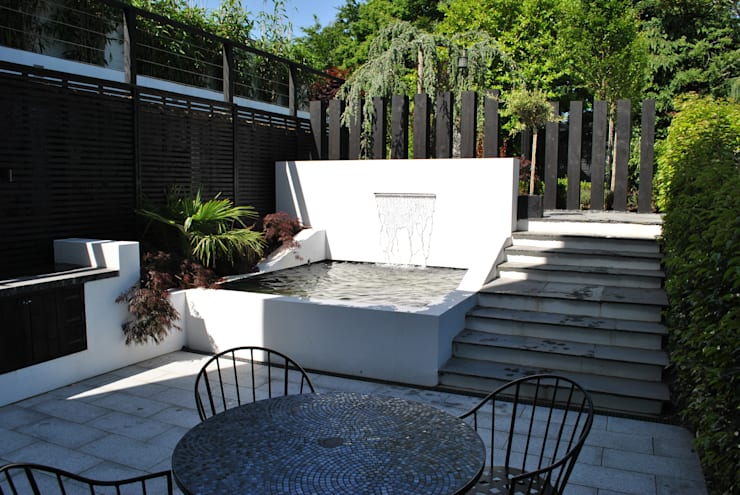 """Modern Living"" in the city:  Garden by Kevin Cooper Garden Design"