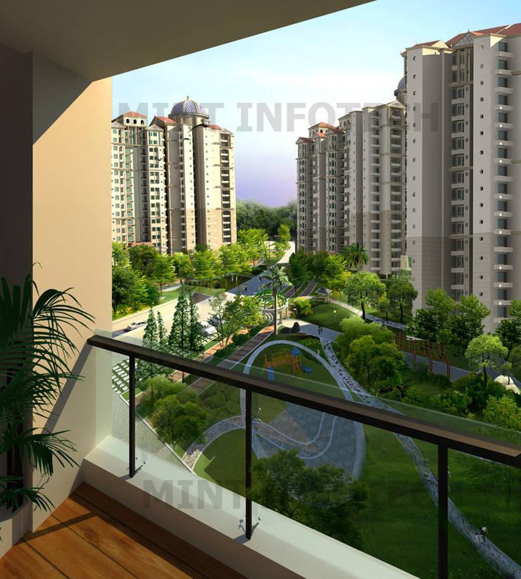 Exterior renderings:   by Mint Infotech Pvt Ltd
